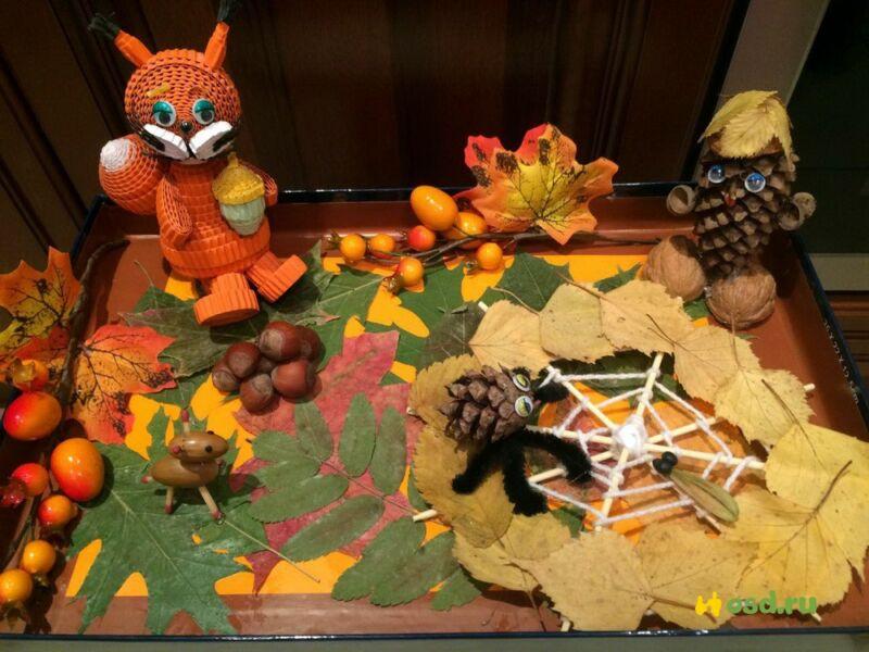 Осенние поделки из листьев своими руками (все новинки для детей детского сада и школы) этап 33