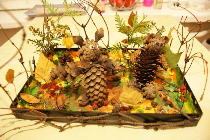Осенние поделки из листьев своими руками (все новинки для детей детского сада и школы) этап 35