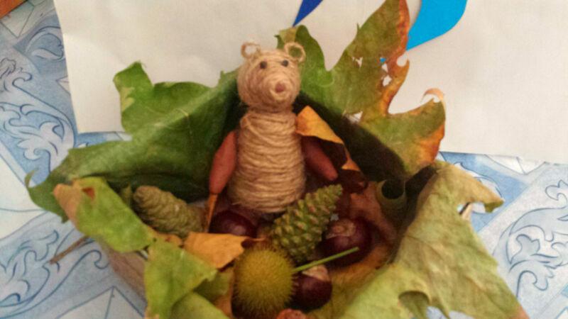 Осенние поделки из листьев своими руками (все новинки для детей детского сада и школы) этап 36