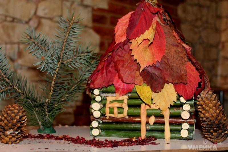Осенние поделки из листьев своими руками (все новинки для детей детского сада и школы) этап 37