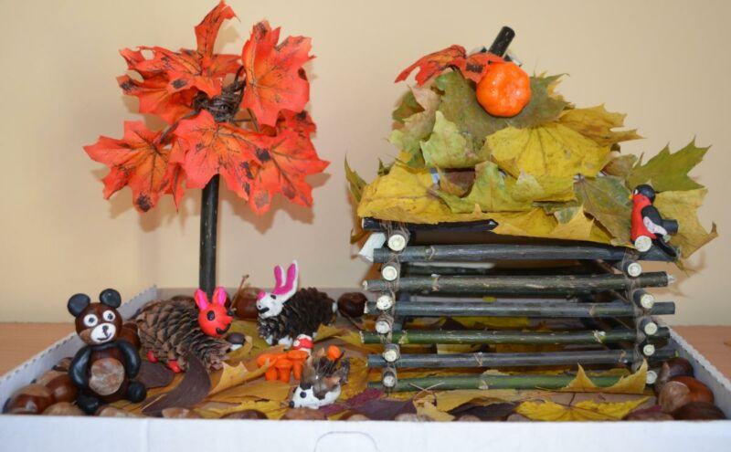Осенние поделки из листьев своими руками (все новинки для детей детского сада и школы) этап 38