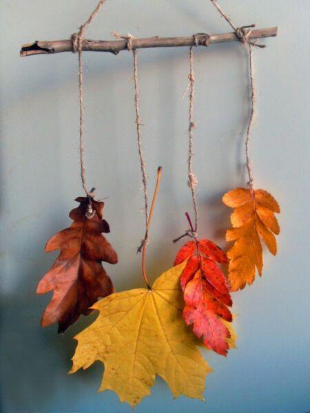 Осенние поделки из листьев своими руками (все новинки для детей детского сада и школы) этап 55