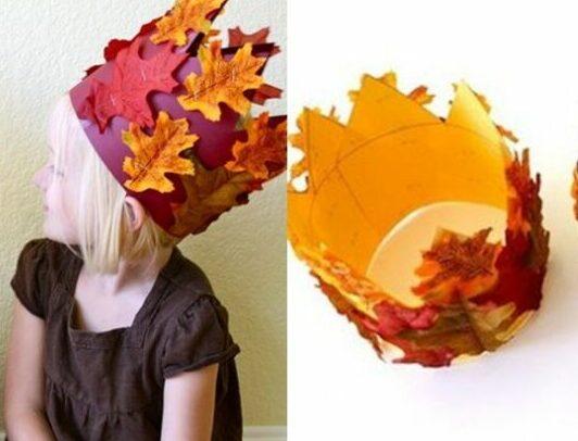Осенние поделки из листьев своими руками (все новинки для детей детского сада и школы) этап 29