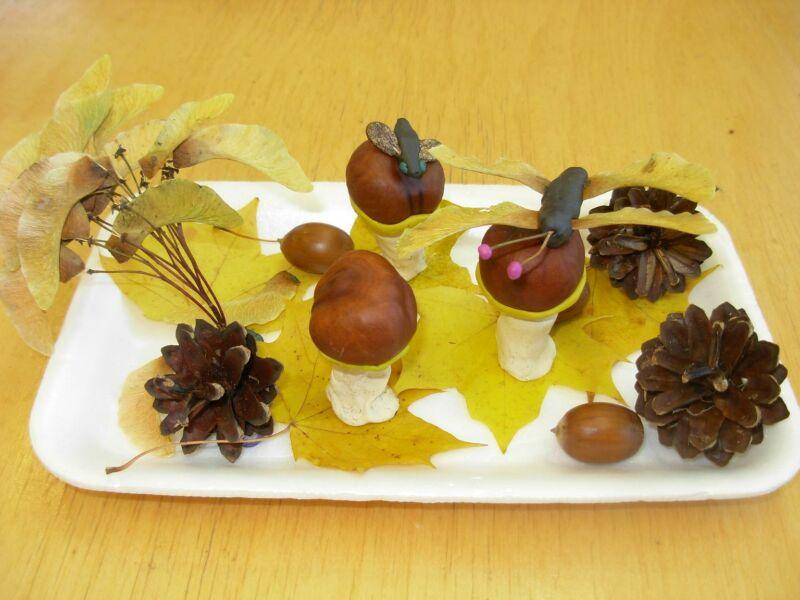 Осенние поделки из листьев своими руками (все новинки для детей детского сада и школы) этап 44