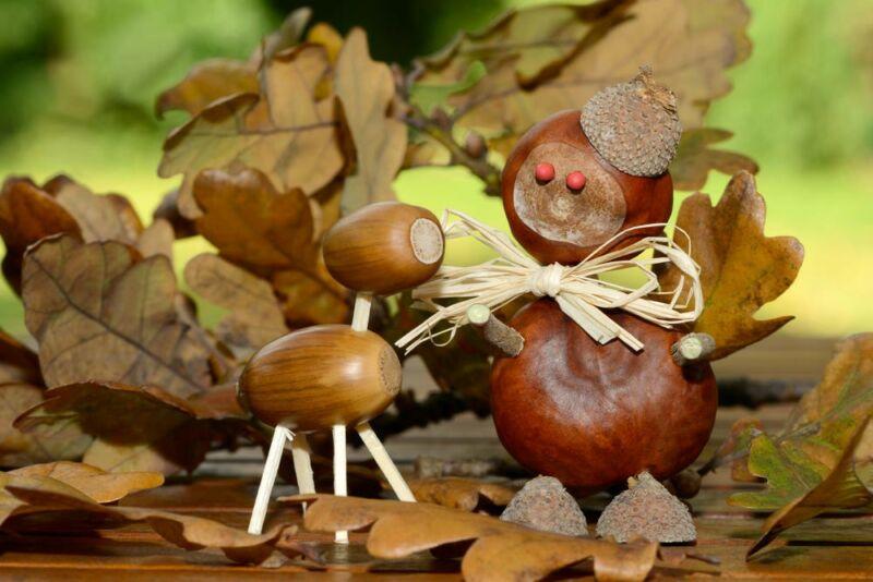 Осенние поделки из листьев своими руками (все новинки для детей детского сада и школы) этап 45