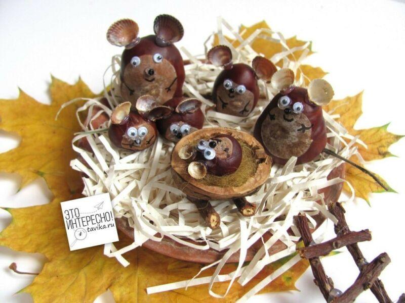 Осенние поделки из листьев своими руками (все новинки для детей детского сада и школы) этап 47