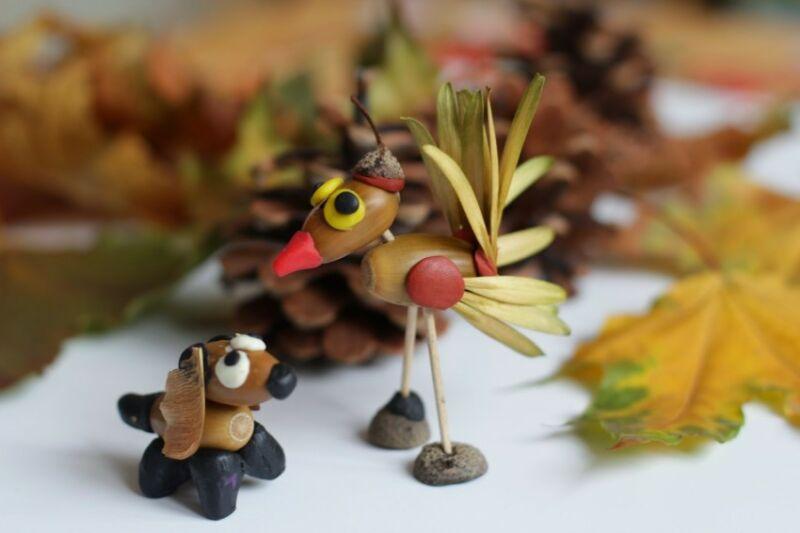 Осенние поделки из листьев своими руками (все новинки для детей детского сада и школы) этап 41
