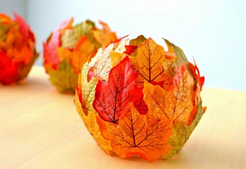 Осенние поделки из листьев своими руками (все новинки для детей детского сада и школы) этап 69