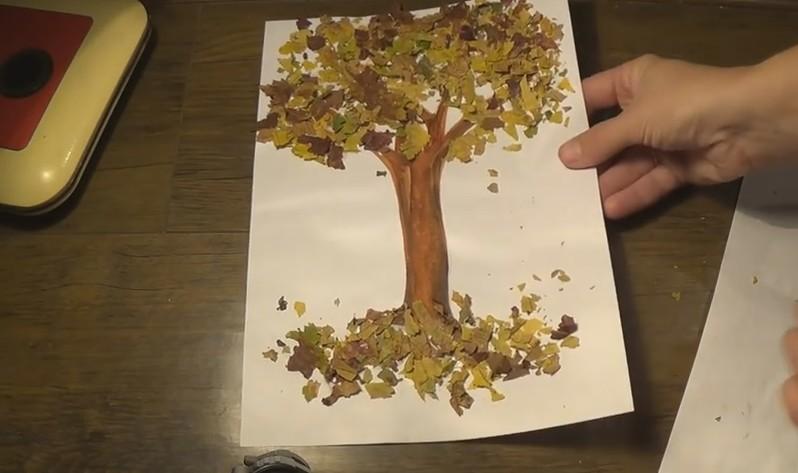 Осенние поделки из листьев своими руками (все новинки для детей детского сада и школы) этап 65