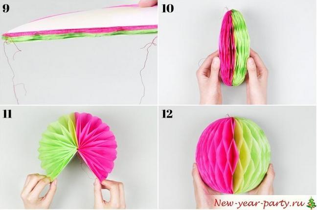 Новогодние шары своими руками на 2021 год этап 11