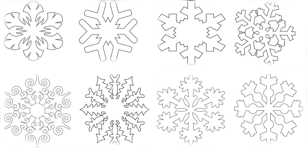 Вытынанки на Новый 2021 год: шаблоны и трафареты для распечатки и вырезания на окна этап 47