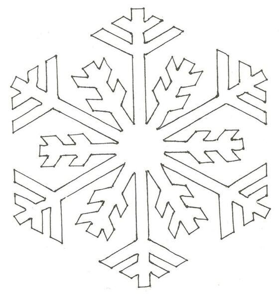 Вытынанки на Новый 2021 год: шаблоны и трафареты для распечатки и вырезания на окна этап 48