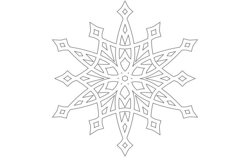 Вытынанки на Новый 2021 год: шаблоны и трафареты для распечатки и вырезания на окна этап 54