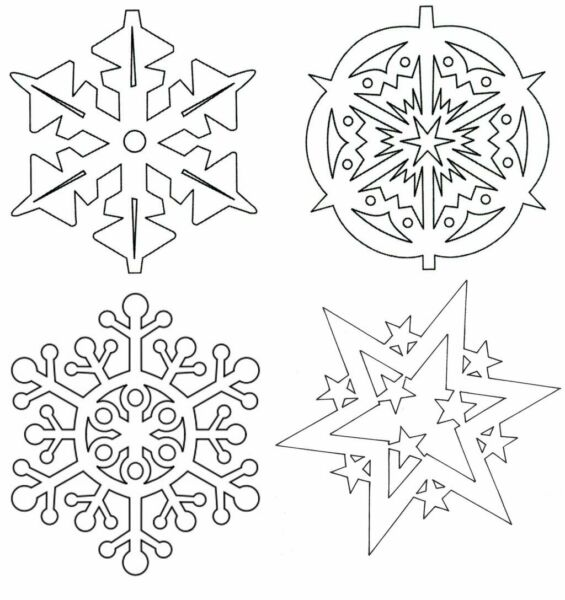Вытынанки на Новый 2021 год: шаблоны и трафареты для распечатки и вырезания на окна этап 46