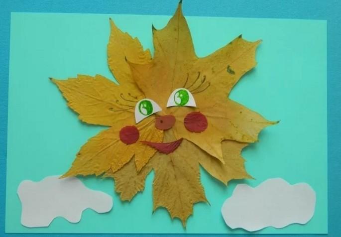 Осенние поделки из листьев своими руками (все новинки для детей детского сада и школы) этап 66