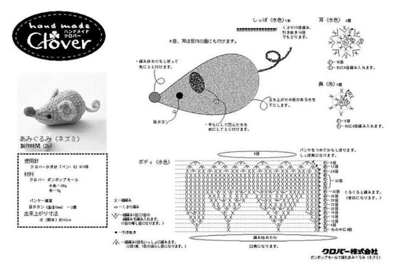 Вязаные мышки и крысы крючком со схемами и описанием. Мастер-классы игрушек амигуруми для начинающих этап 41