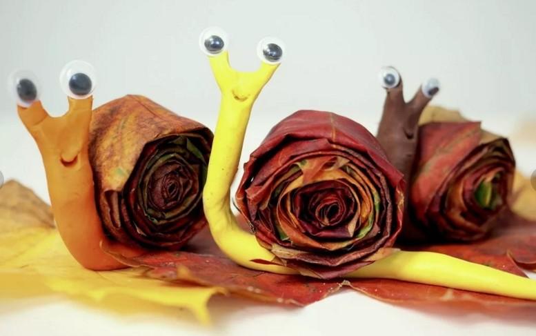 Осенние поделки из листьев своими руками (все новинки для детей детского сада и школы) этап 68