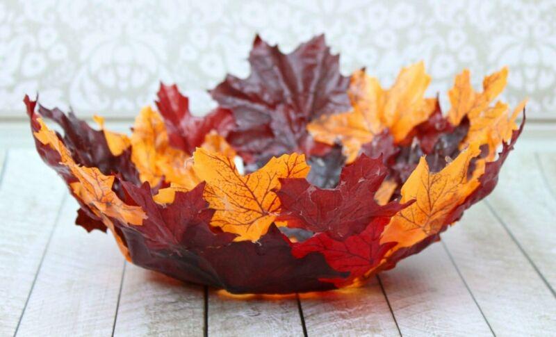 Осенние поделки из листьев своими руками (все новинки для детей детского сада и школы) этап 12