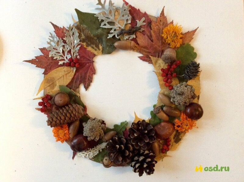Осенние поделки из листьев своими руками (все новинки для детей детского сада и школы) этап 42