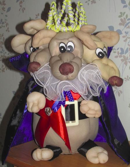 Крыса (мышь) своими руками на Новый год — поделки в виде символа года 2020 из разных материалов этап 41
