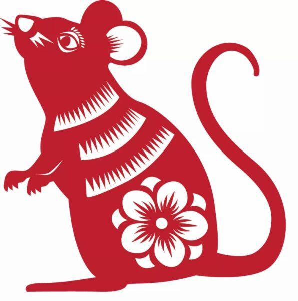 Трафареты крысы или мыши на окна к Новому году 2020 для вырезания из бумаги этап 16