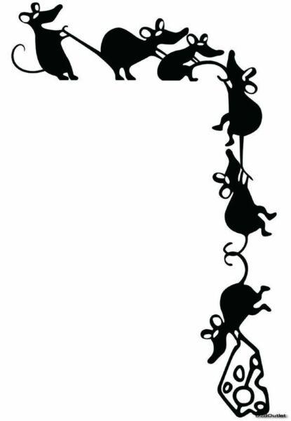 Трафареты крысы или мыши на окна к Новому году 2020 для вырезания из бумаги этап 17