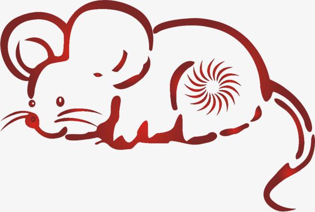 Трафареты крысы или мыши на окна к Новому году 2020 для вырезания из бумаги этап 18