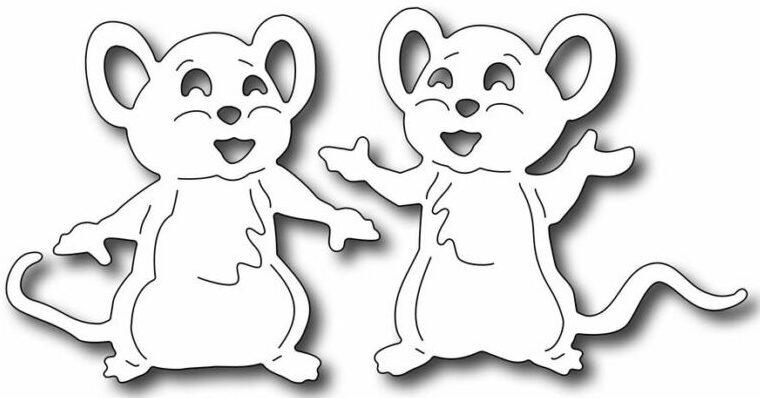 Трафареты крысы или мыши на окна к Новому году 2020 для вырезания из бумаги этап 20
