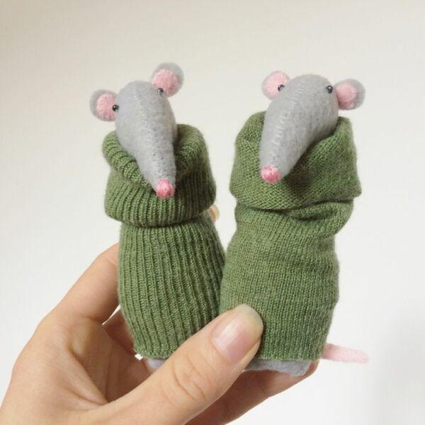 Крыса (мышь) своими руками на Новый год — поделки в виде символа года 2020 из разных материалов этап 42