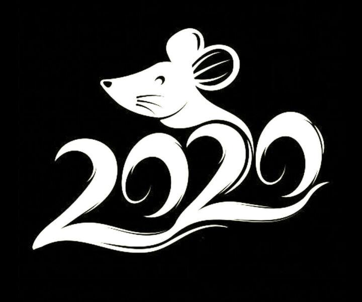 Трафареты крысы или мыши на окна к Новому году 2020 для вырезания из бумаги этап 2