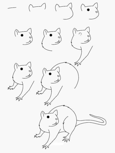 Крыса (мышь) своими руками на Новый год — поделки в виде символа года 2020 из разных материалов этап 108