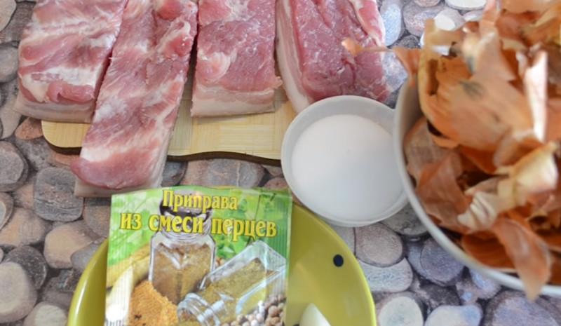 Как сварить сало в луковой шелухе? 7 самых вкусных рецептов этап 3