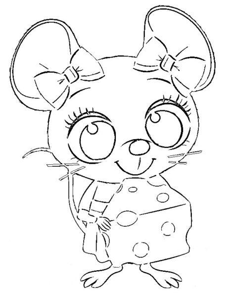 Трафареты крысы или мыши на окна к Новому году 2020 для вырезания из бумаги этап 34