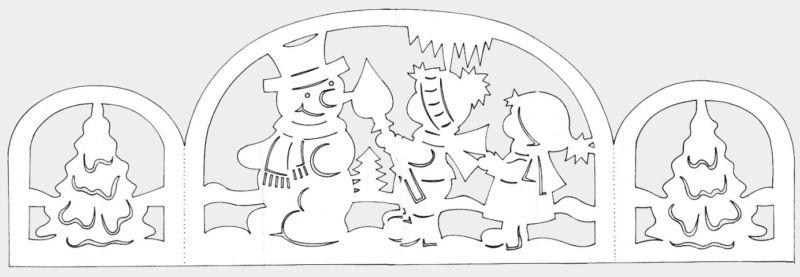 Трафареты крысы или мыши на окна к Новому году 2020 для вырезания из бумаги этап 63
