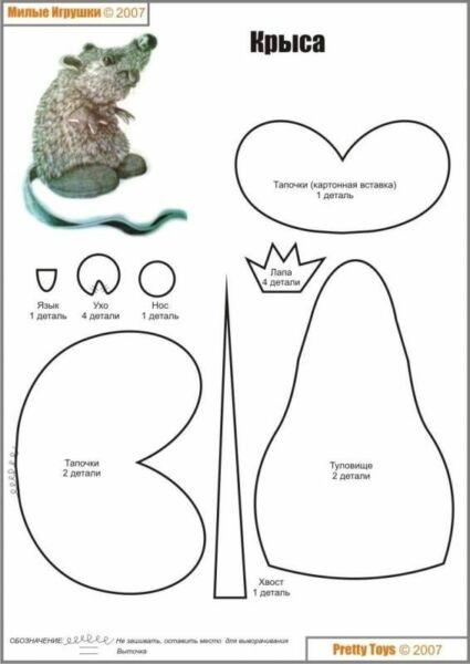 Крыса (мышь) своими руками на Новый год — поделки в виде символа года 2020 из разных материалов этап 51