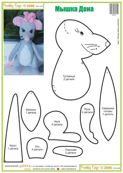 Крыса (мышь) своими руками на Новый год — поделки в виде символа года 2020 из разных материалов этап 56