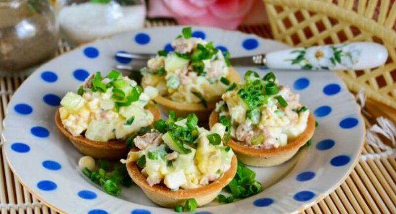 Закуски в тарталетках — 10 простых и вкусных рецептов на праздничный стол этап 54
