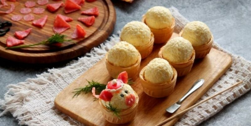 Закуски в тарталетках — 10 простых и вкусных рецептов на праздничный стол этап 7