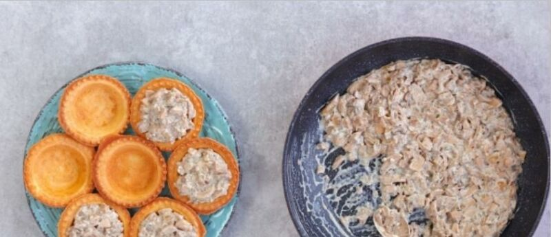 Закуски в тарталетках — 10 простых и вкусных рецептов на праздничный стол этап 42
