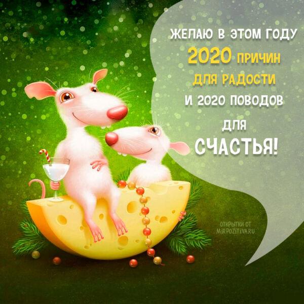 С Новым 2020 годом! С Годом Белой Металлической Крысы! этап 3