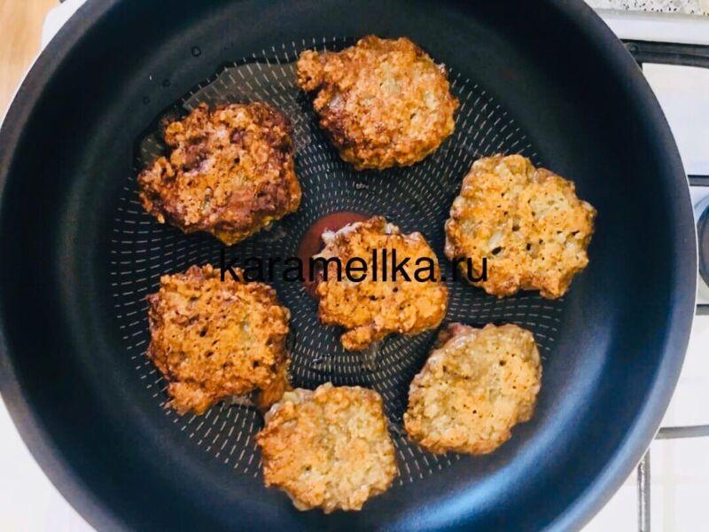 Печеночные оладьи из говяжьей печени — супер рецепт пышных оладьев этап 9