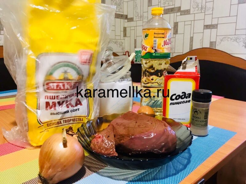 Печеночные оладьи из говяжьей печени — супер рецепт пышных оладьев этап 2