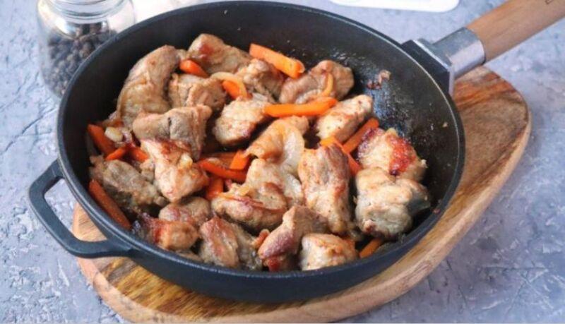 Свинина на сковороде: 9 простых и вкусных рецептов этап 29