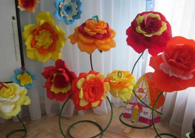Цветы из бумаги — схемы и шаблоны для создания бумажных цветов этап 35