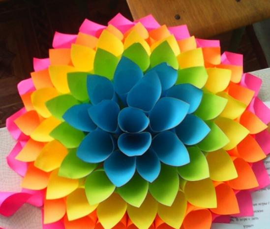 Цветы из бумаги — схемы и шаблоны для создания бумажных цветов этап 32