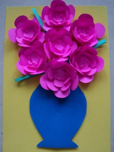 Цветы из бумаги — схемы и шаблоны для создания бумажных цветов этап 151