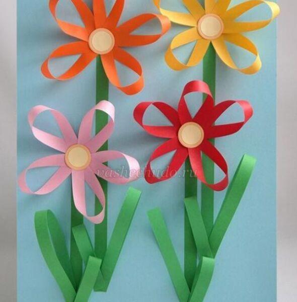 Цветы из бумаги — схемы и шаблоны для создания бумажных цветов этап 71