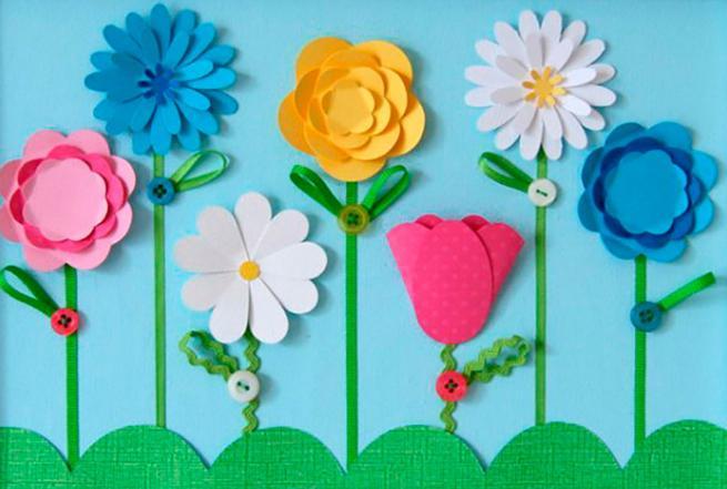Цветы из бумаги — схемы и шаблоны для создания бумажных цветов этап 73
