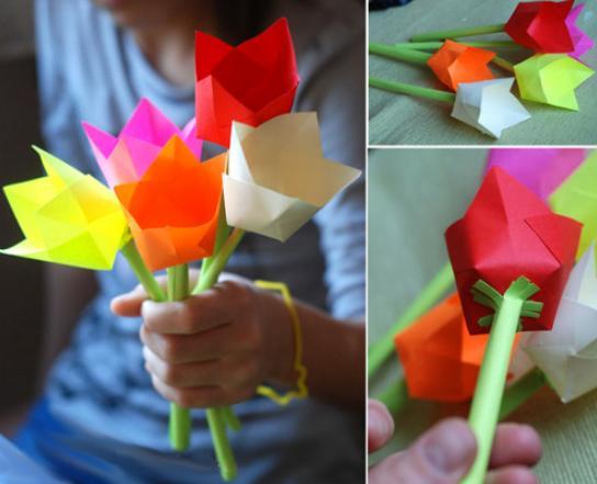 Цветы из бумаги — схемы и шаблоны для создания бумажных цветов этап 72