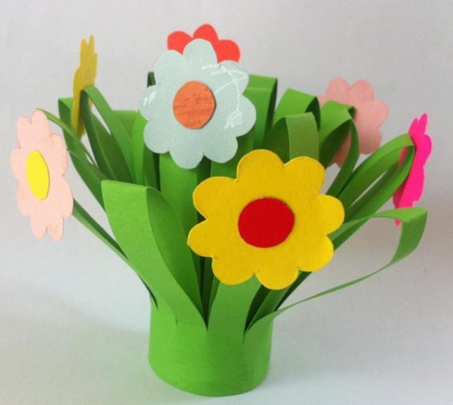 Цветы из бумаги — схемы и шаблоны для создания бумажных цветов этап 69